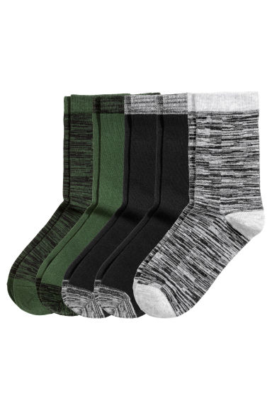 5-pack socks - Black - Kids | H&M CN 1