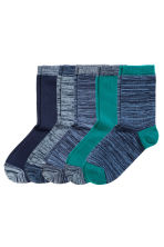 5-pack socks - Blue marl - Kids | H&M CN 1