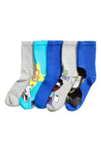 5-pack socks - Cornflower blue - Kids | H&M CN 2