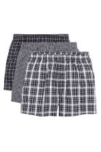 Boxer, 3 pz - Nero/quadri - UOMO | H&M IT 2