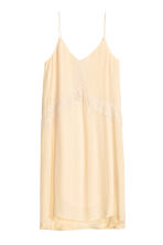 Dress with lace - Light beige - Ladies | H&M CN 1