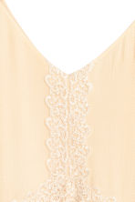 Dress with lace - Light beige - Ladies | H&M CN 2