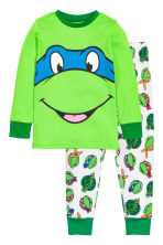 Jersey pyjamas - Green/Turtles - Kids | H&M CN 1