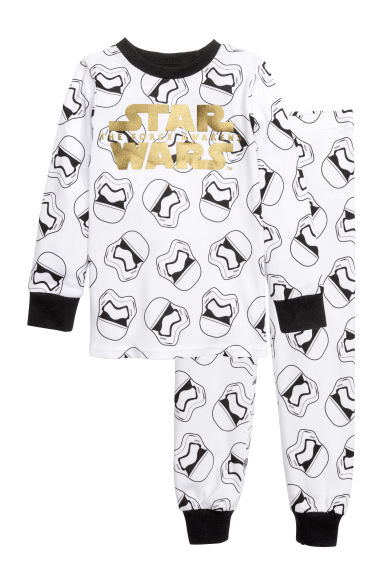 Jersey pyjamas - White/Star Wars - Kids | H&M CN 1