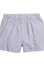 Boxer, 3 pz - Blu scuro/quadri - UOMO | H&M IT 4