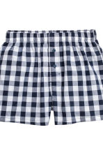 Boxer, 3 pz - Blu scuro/quadri - UOMO | H&M IT 5