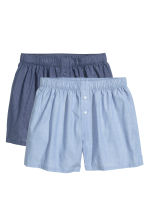 2-pack cotton boxer shorts - Dark blue/Light blue - Men | H&M CN 2