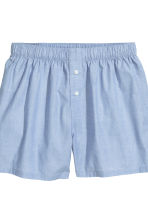 2-pack cotton boxer shorts - Dark blue/Light blue - Men | H&M CN 4
