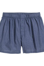 2-pack cotton boxer shorts - Dark blue/Light blue - Men | H&M CN 3