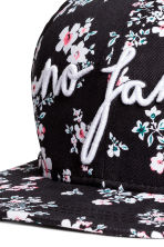 Patterned cotton cap - Black/Small floral - Ladies | H&M CN 2