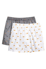 2-pack boxer shorts - Grey/Sushi  - Men | H&M CN 2