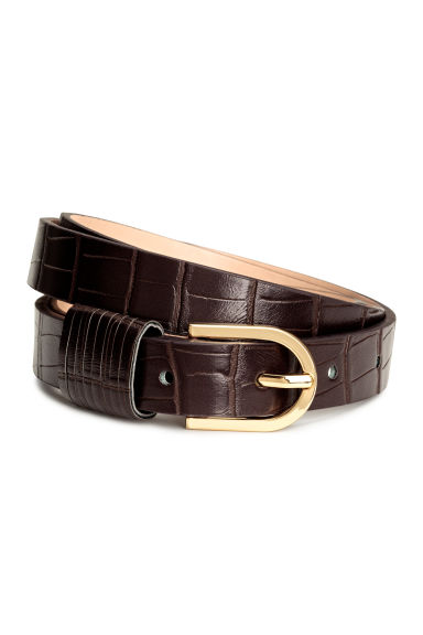 Narrow belt - Dark brown - Ladies | H&M CA 1