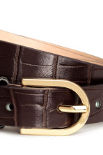 Narrow belt - Dark brown - Ladies | H&M CA 3