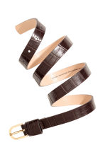 Narrow belt - Dark brown - Ladies | H&M CA 2