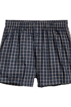 3-pack boxer shorts - Dark blue/Checked - Men | H&M CN 4