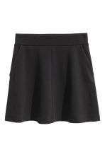 A-line jersey skirt - Black - Ladies | H&M CN 2