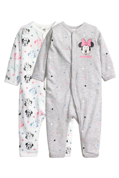 2-pack all-in-one pyjamas - Grey marl/Minnie Mouse -  | H&M CN 1