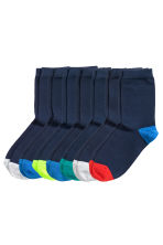 7-pack socks - Dark blue - Kids | H&M CN 1
