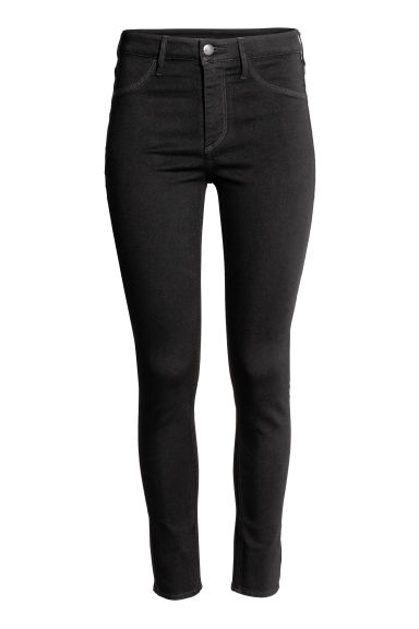 Skinny High Ankle Jeans - 黑色 - 女士 | H&M CN 1