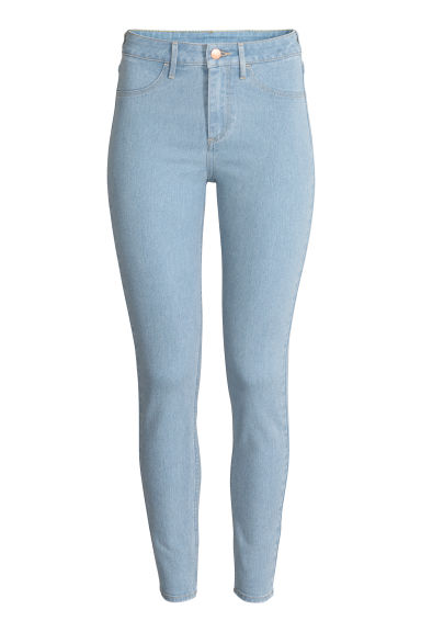Skinny High Ankle Jeans - Light denim blue - Ladies | H&M CN