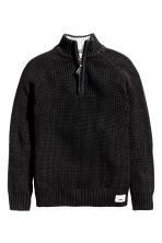 Rib-knit jumper - Black - Kids | H&M CN 2