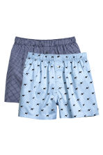 2-pack boxer shorts - Blue/Dogs - Men | H&M CN 2