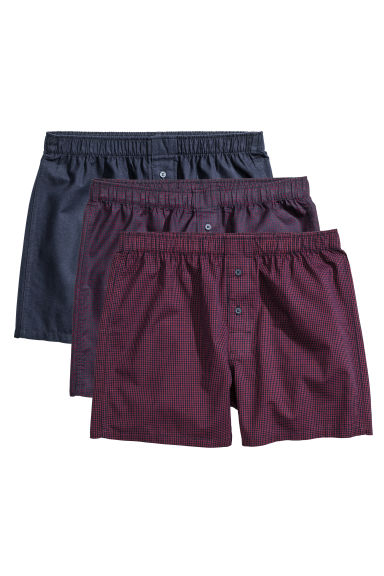 3-pack boxer shorts - Dark blue/Red - Men | H&M CN 1