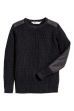Knitted jumper - Black - Kids | H&M CA 2