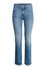 Straight Cropped High Jeans - Azul denim - SENHORA | H&M PT 2