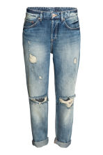 Boyfriend Low Ripped Jeans - Azul denim trashed - MUJER | H&M ES 2