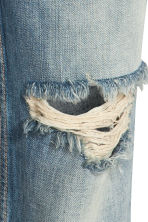 Boyfriend Low Ripped Jeans - Azul denim trashed - MUJER | H&M ES 4