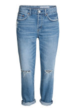 Boyfriend Low Ripped Jeans - Denim blue - Ladies | H&M CN 2