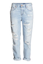 Boyfriend Low Ripped Jeans - Light denim blue - Ladies | H&M 3