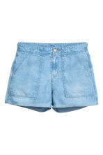 Shorts in lyocell - Blu denim chiaro - DONNA | H&M IT 2