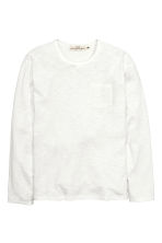 Long-sleeved T-shirt - White marl - Men | H&M CN 2