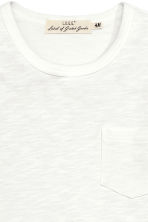 Long-sleeved T-shirt - White marl - Men | H&M CN 3