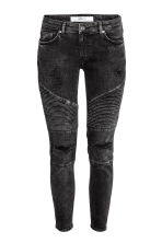 Biker Jeans Skinny Fit - 黑色 - Ladies | H&M CN 1