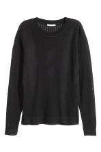 Pattern-knit jumper - Black - Ladies | H&M CN 2