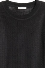 Pattern-knit jumper - Black - Ladies | H&M CN 3