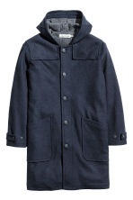 Wool-blend duffle coat - Dark blue - Men | H&M CN 2