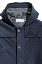 Wool-blend duffle coat - Dark blue - Men | H&M CN 3