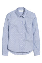 Cotton shirt - Light blue/Spotted - Ladies | H&M CN 2