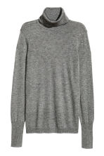 Pullover a collo alto - Grigio scuro mélange - DONNA | H&M IT 2