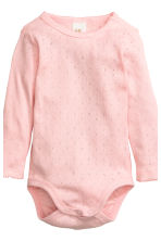 2-pack long-sleeved bodysuits - White/Heart - Kids | H&M CN 3
