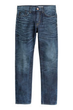 Straight Regular Jeans - Dark blue washed out - Men | H&M CN 2