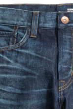 Straight Regular Jeans - Bleu foncé washed out - HOMME | H&M FR 4