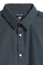 Camicia easy-iron - Blu scuro/pois - UOMO | H&M IT 3