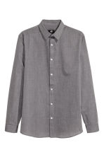 Easy-iron shirt - Black/Chambray - Men | H&M CN 2