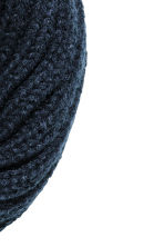 Knitted tube scarf - Dark blue - Kids | H&M CN 2