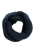 Knitted tube scarf - Dark blue - Kids | H&M CN 1